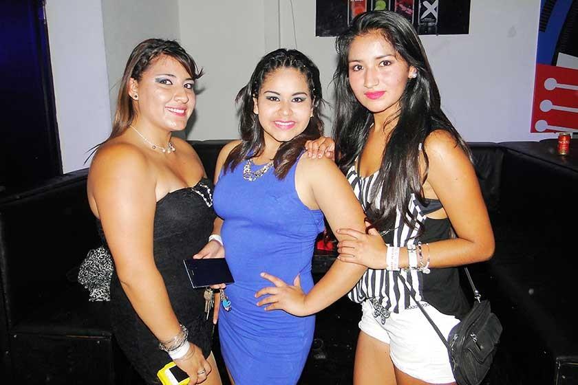 Alexandra Rasguido, Dayana Aguilar y Norma Muñoz.