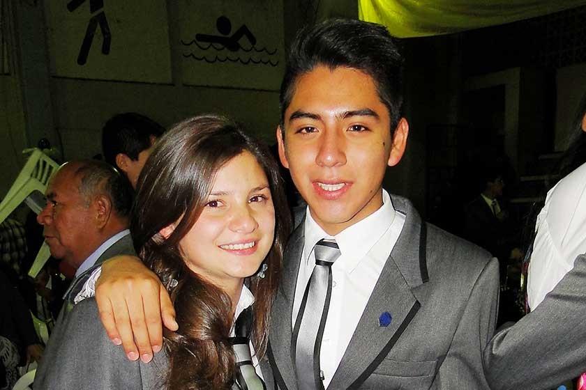 Laura Flores  y Oscar Barrientos.