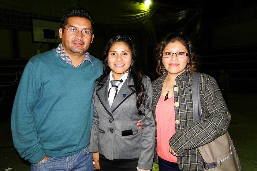 Juan Carlos Andrade, Ana Laura Andrade  y Lizbeth Saavedra.