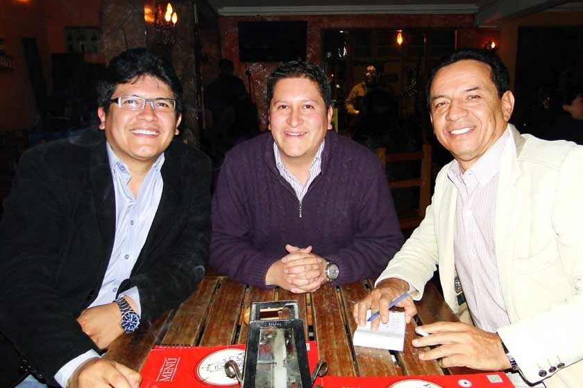 Marcelo Marquez, Jaime Aguilar y Raolando Álvarez.