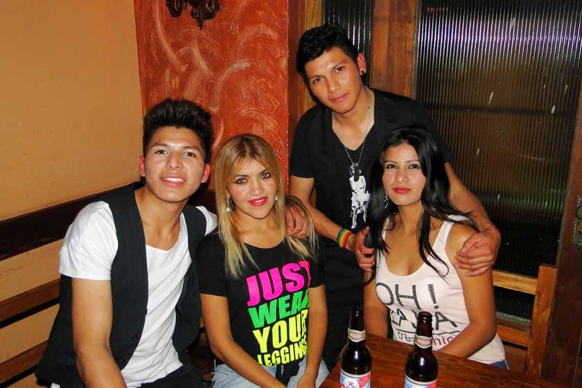 Raúl Torrez, Mariana Rendón, Aida Poveda  y Grover Torrez.