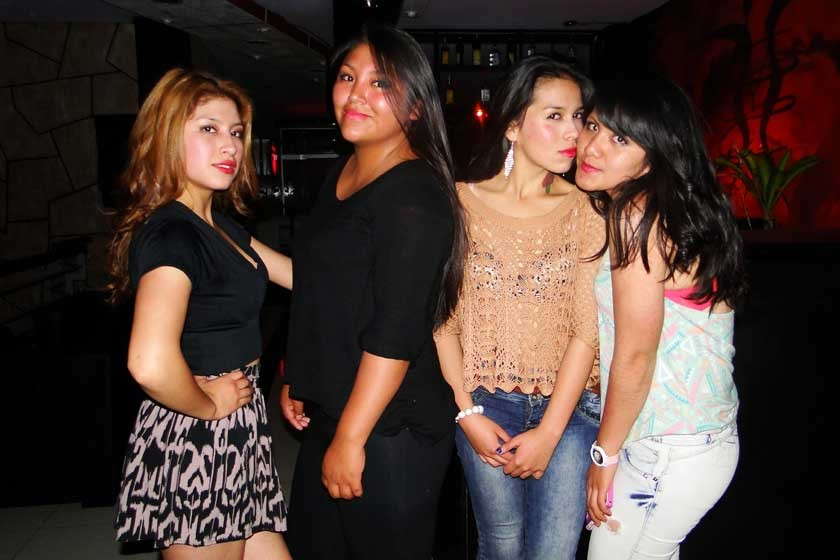 Vania Cuba, Pamela Pinaya, Kimberly Sánchez y Lourdes Pinaya.