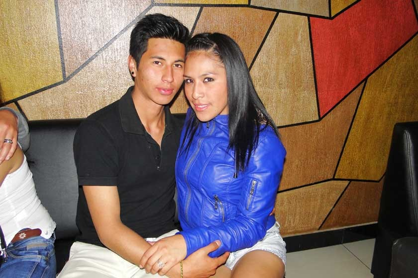 Cristian Mina y Wendy Tamayo