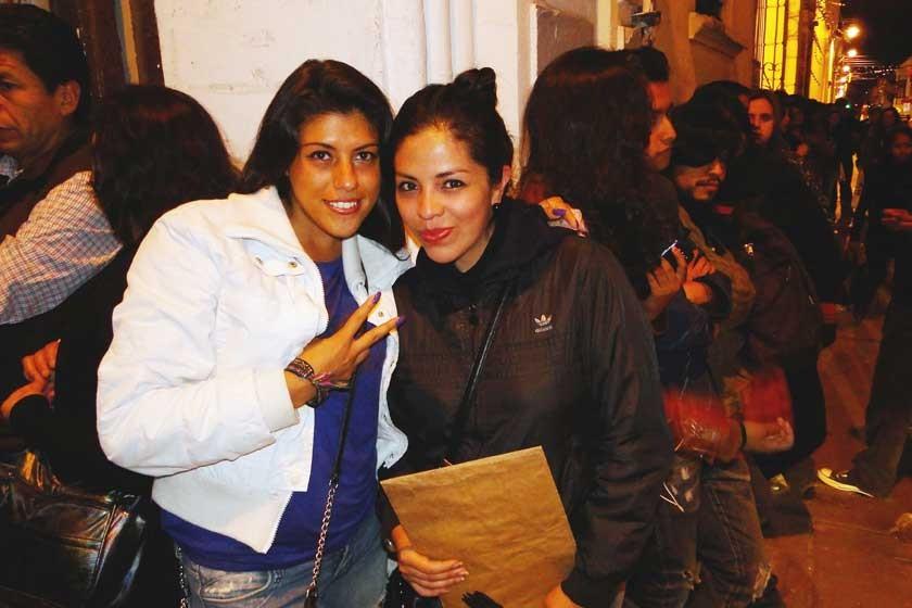 Samantha Arana y Alejandra Campos.