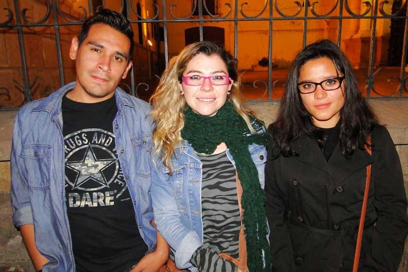 Álvaro Sánchez, Cassandra Camacho y Cecilia Becerra.