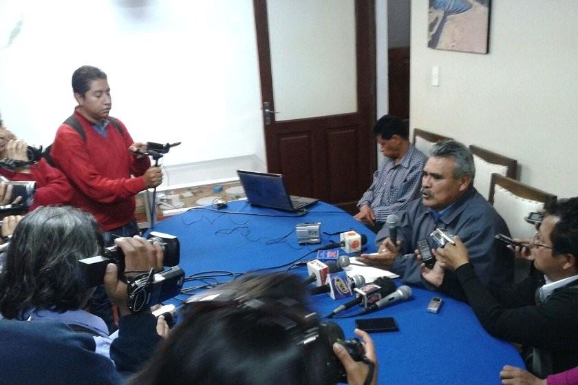 ELAPAS informó la situación de la distribución de agua en una conferencia de prensa. Foto: CORREO DEL SUR