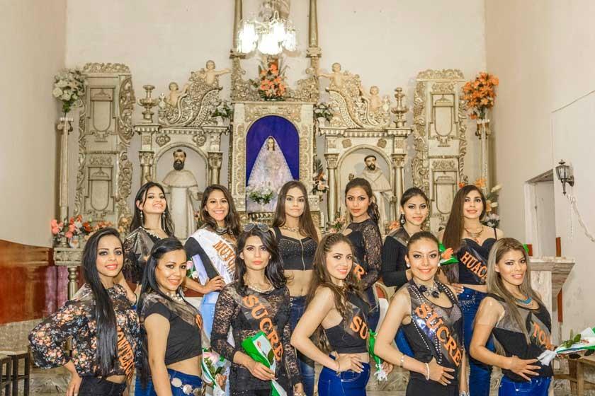 Las candidatas en Padilla.