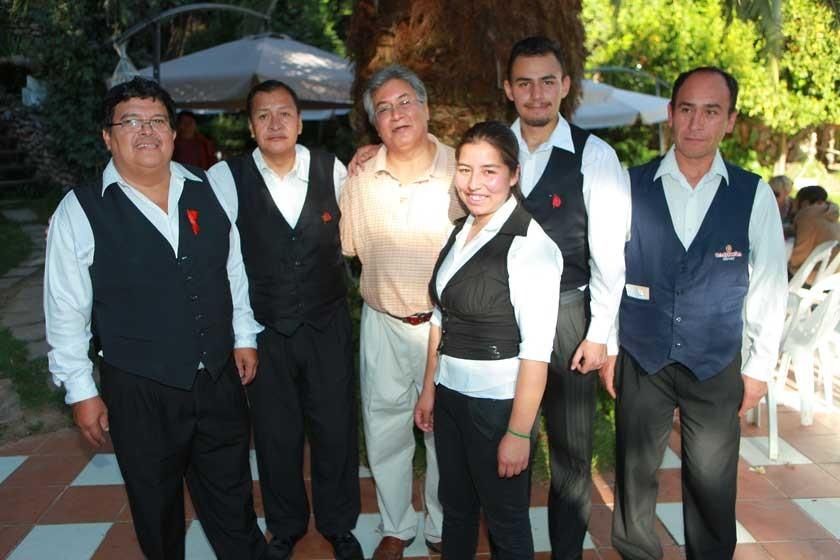 Javier Ameller, Tito Valverde, Carlos Pereyra, Marlene Cruz, Juan Pablo Tapia y Andrés Tapia.