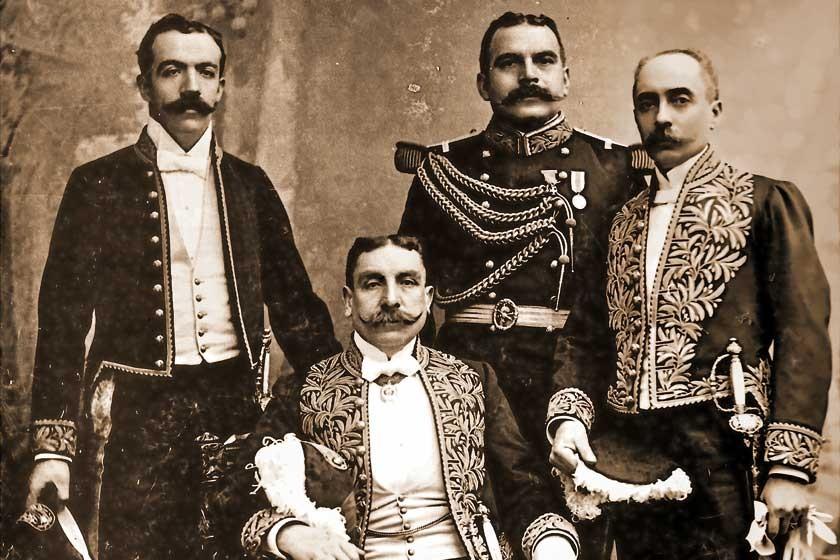 Delegación diplomática de Bolivia en Europa, a comienzos del siglo XX.
