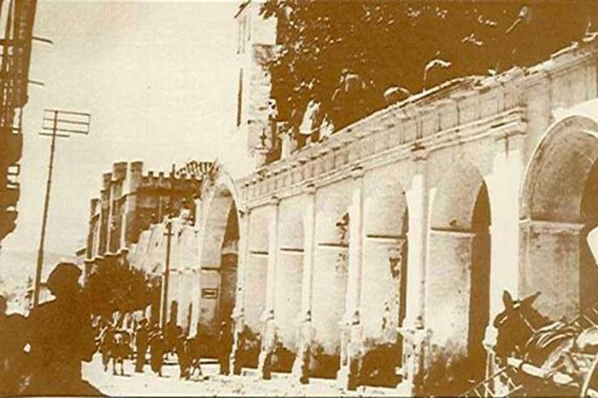 Arcos originales de la plazuela de San Francisco, destruidos y luego, en el siglo XX, reconstruidos.