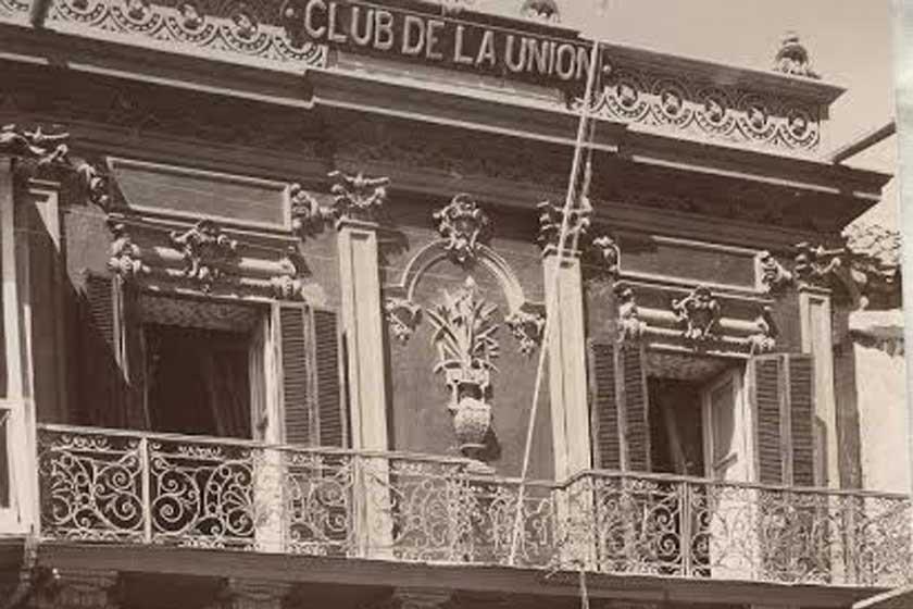 El Club de la Unión estaba ubicado en la Plaza 25 de Mayo.