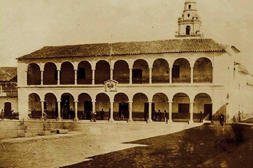 Cuando la Alcaldía era Cabildo, en la época de la Colonia.
