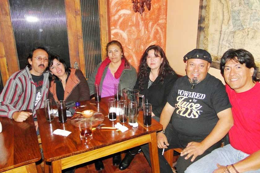 Sergio Aparicio, Jackeline Soruco, Asunta Apaza, Griselda Torres, Mario Navarro y Gunnar Rodríguez.