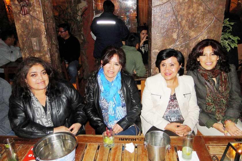 Wilma Serrudo, Carmen Canseco, Rosario Ayaviri y Patricia Calvo.
