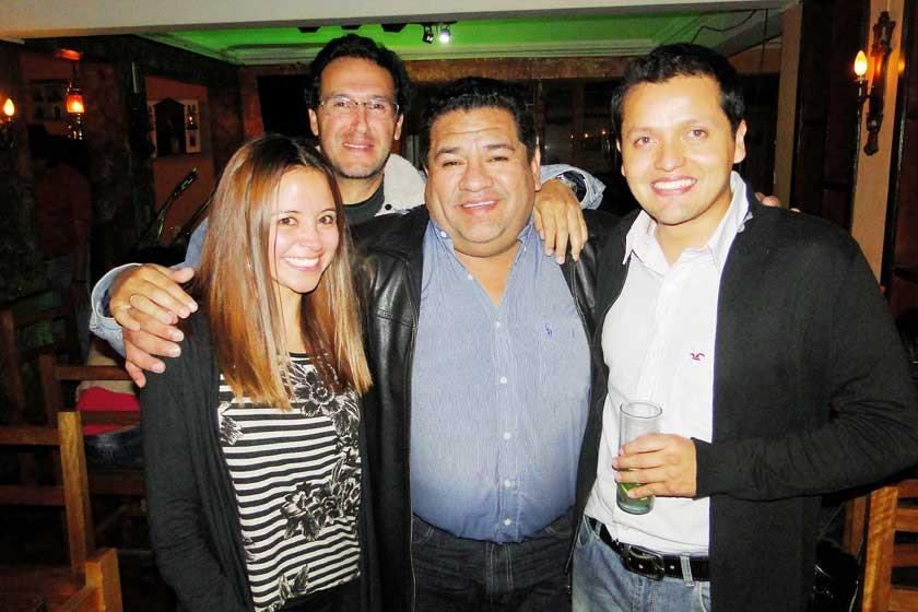 Rose Mary Cervantes, Gustavo Aparicio, Jorge Camargo,  y Juan Carlos Argandoña.