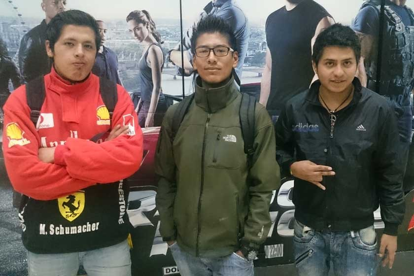Rider Fernández, Gabriel Sotillo y Erlan Montalvo.