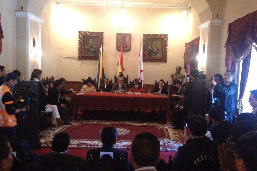 La sesión del Concejo Municipal de Sucre se desarrolló la mañana de este lunes. Foto: CORREO DEL SUR