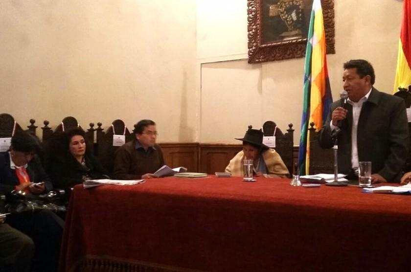 Santiago Vargas durante su primera intervención como Presidente del Concejo Municipal de Sucre. Foto: CORREO DEL SUR