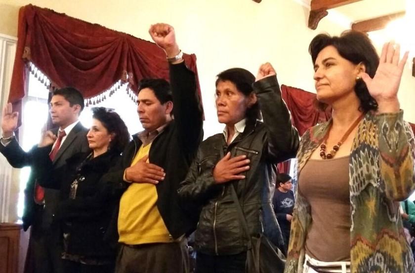 La posesión de los presidentes de comisiones dentro del Concejo Municipal. Foto: CORREO DEL SUR