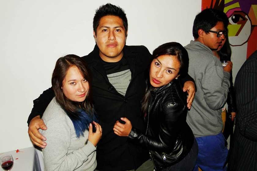 Brenda Romero, Kevin Aguirre y Fabiola Torrez.