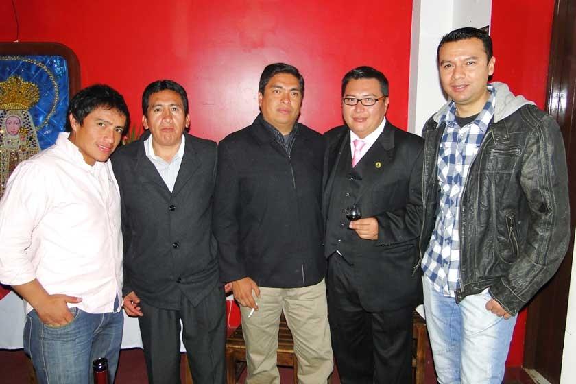 Sergio Postigo, Juan Tapia, Daniel Aguilera, Nino Barrero y Antonio Alfaro.