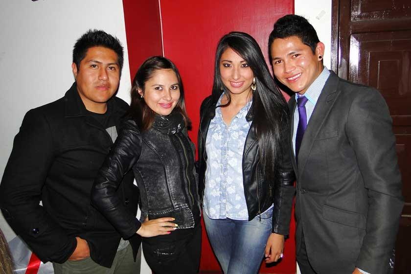 Kevin Aguirre, Mariana Méndez, Andrea Postigo y Ricardo Rojas.