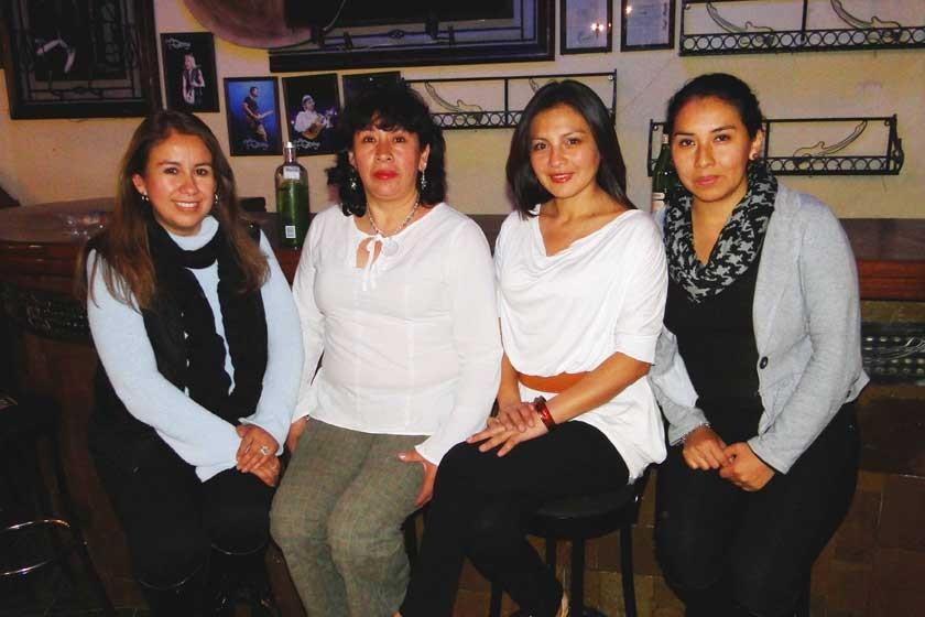 Mabel Torrez, Liliana Barrios, Marianela Pasquier y Leticia Saavedra.