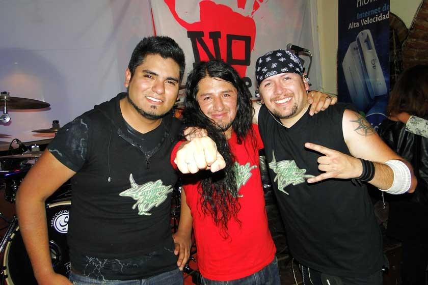 Mauricio Zárate, Álvaro Arciénega y Sixto Orellana.