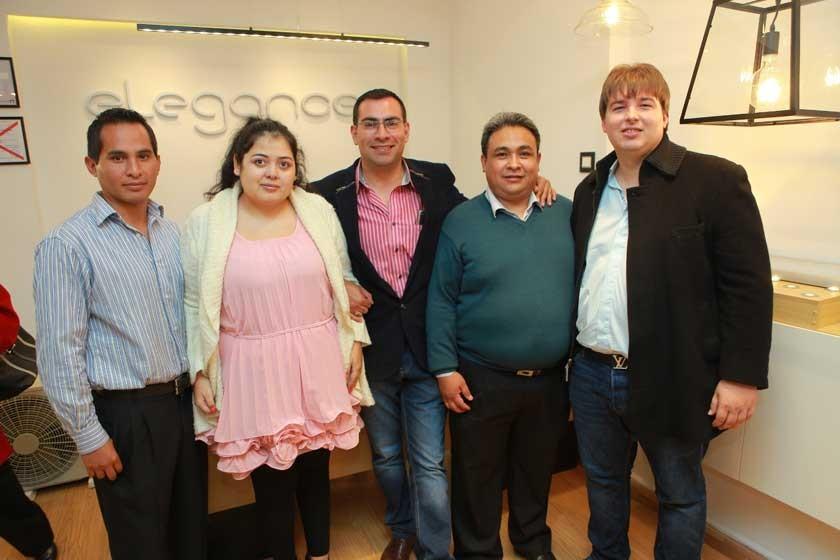 Carlos Uriona, Tiffany Escalier, Vidal Carrasco, Milder Mayan y Erich Böttger.