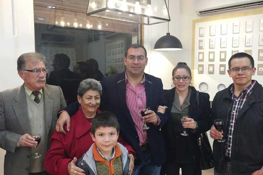 Vidal Carrasco Serrano, Teresa Poveda de Carrasco, Vidal Carrasco Poveda, Miryam Carrasco de Videla y Juan Carlos Videla