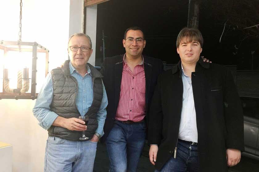 Fernando Auza Anglarill, Vidal Carrasco Poveda y Erich Böttger Robertson.