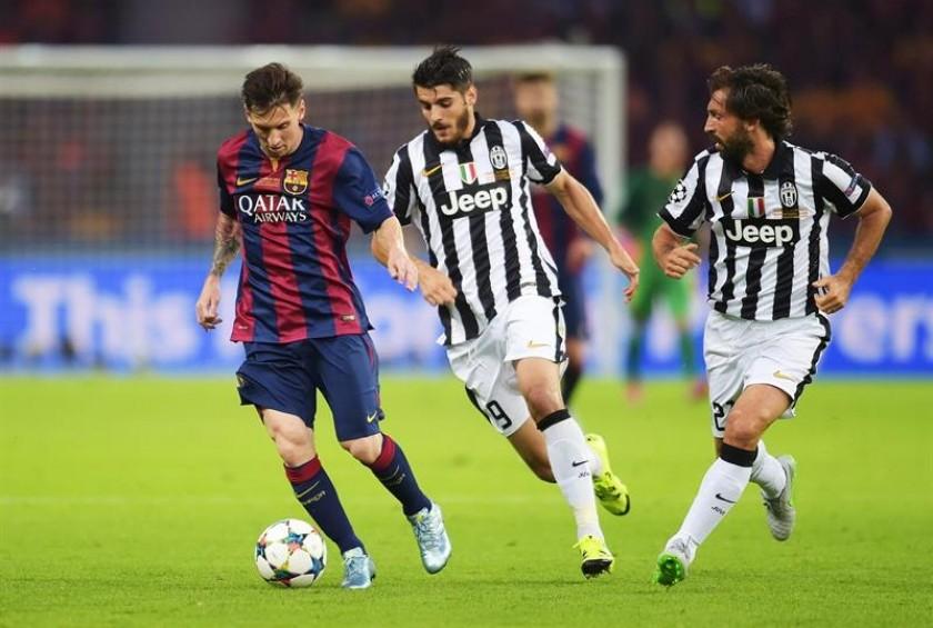 Morata (c) marcó el empate para Juventus. Foto: EFE