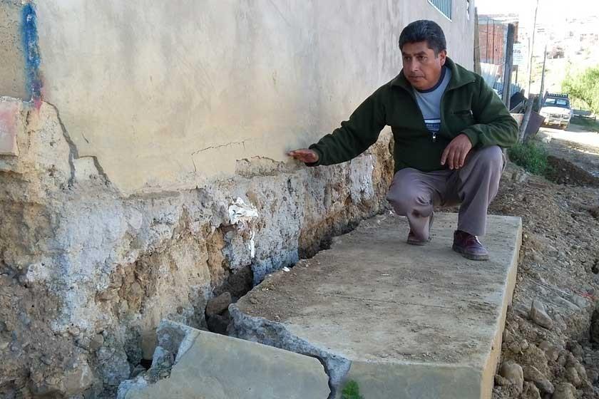 Alarman hundimientos en San Luis Bajo