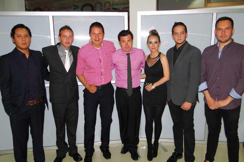 David Michaga, Rodrigo Hoss, Diego Gutiérrez, Erik Vaca, Mónica Mercado, Eduardo Torricos y Sergio Guerrero.