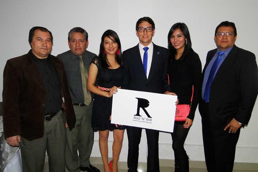 Jaime Salinas, Eduardo Diez Canseco, María Durán, Rodrigo Durán, Noelia Porcel y Javier Durán.