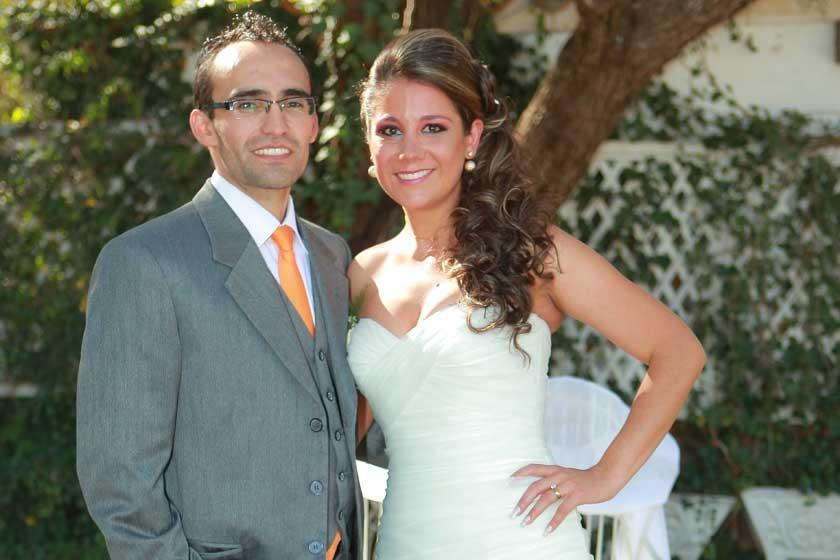 Peter Stumvoll y Adriana Ramírez.