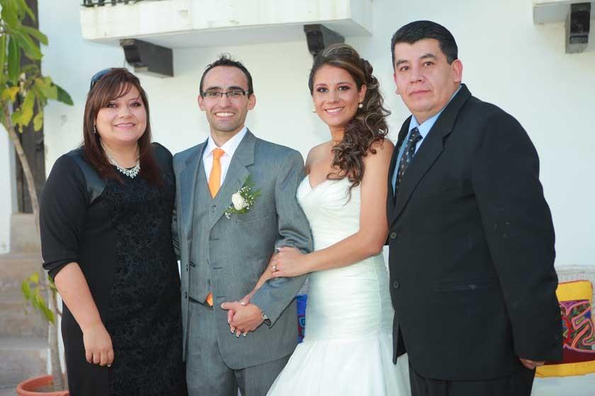 Celeny Lazcano, Peter Stumvoll, Adriana Ramírez y Mauricio Gutiérrez.