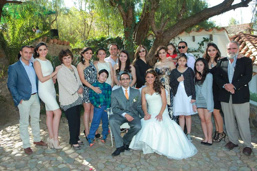 La familia del novio.