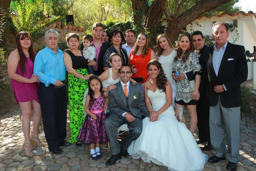 La familia de la novia.