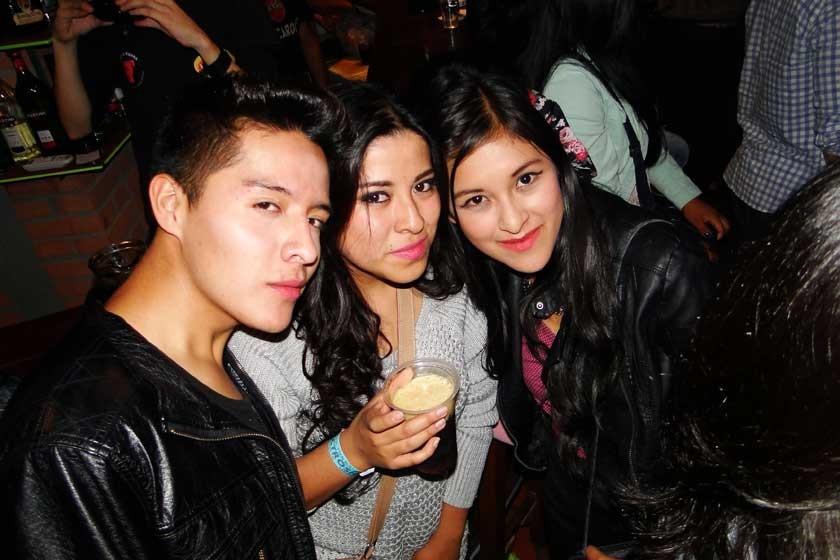 Gerson Camargo, Mery Gonzales y Alessa Calderón.