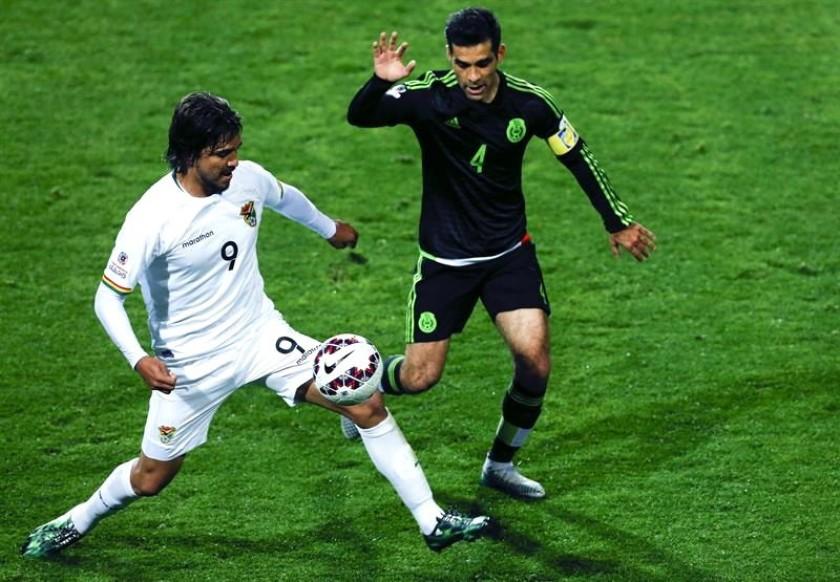 Faltó el gol al partido entre bolivianos y mexicanos. Foto: EFE