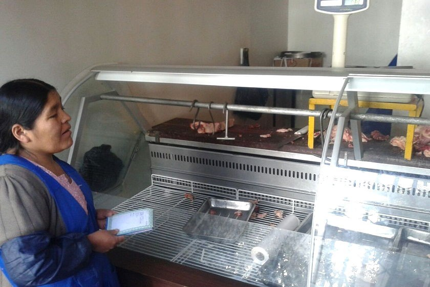 El frigorífico Santa Fe del mercado Central se quedó sin carne de res. Foto: CORREO DEL SUR