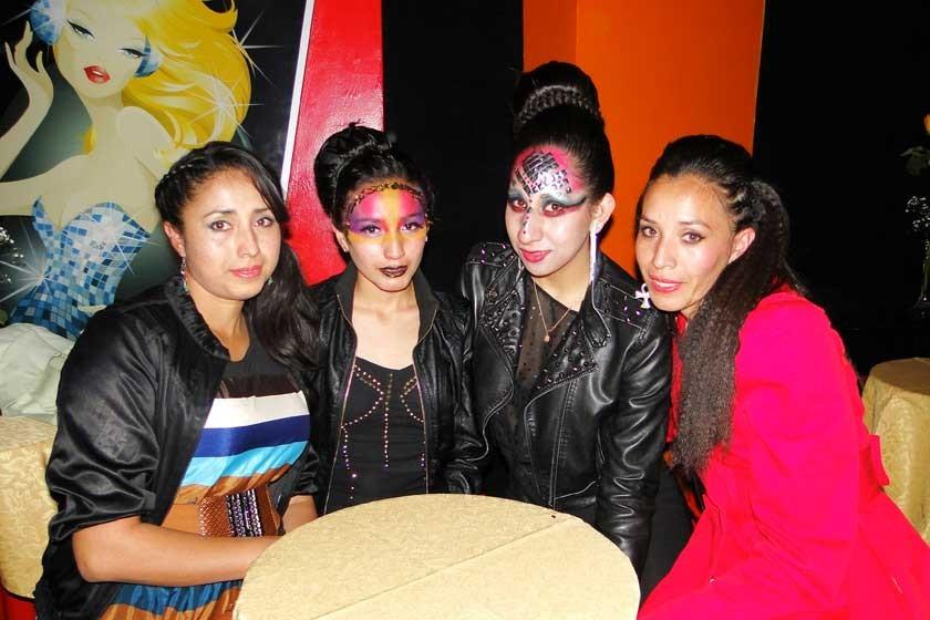 Claudia Quiroga, Nazareth Quiroga, Carolina Castillo y Rosa Lía Quiroga.
