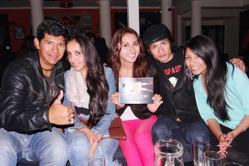 Nail Vásquez, Carla Mercado, Stefani Gonzáles, Brahaim Alvia y Silvia Suxo.
