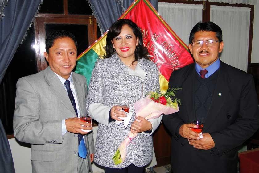 José Luis Ruelas, Faviola Cruz y Pascual Yampa.