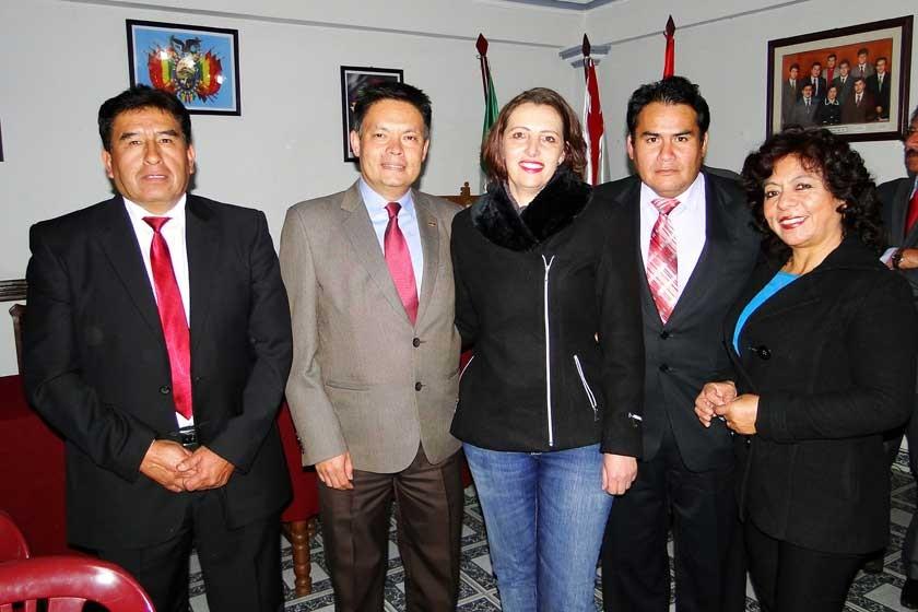 Rubén Azurduy, Antonio Rendón, Andrea Ceccon, Juan Carlos Durán y Virginia Muñoz.