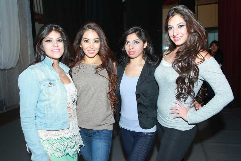 La Paz: Alejandra Benavides, Daniela Giselle, Paola Zenteno y Nicole Benavides.