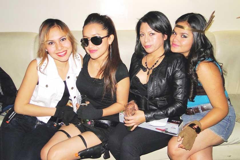 Maili Yubanera, Evalina Rodríguez, Elsa Mora y Daniela Zárate.