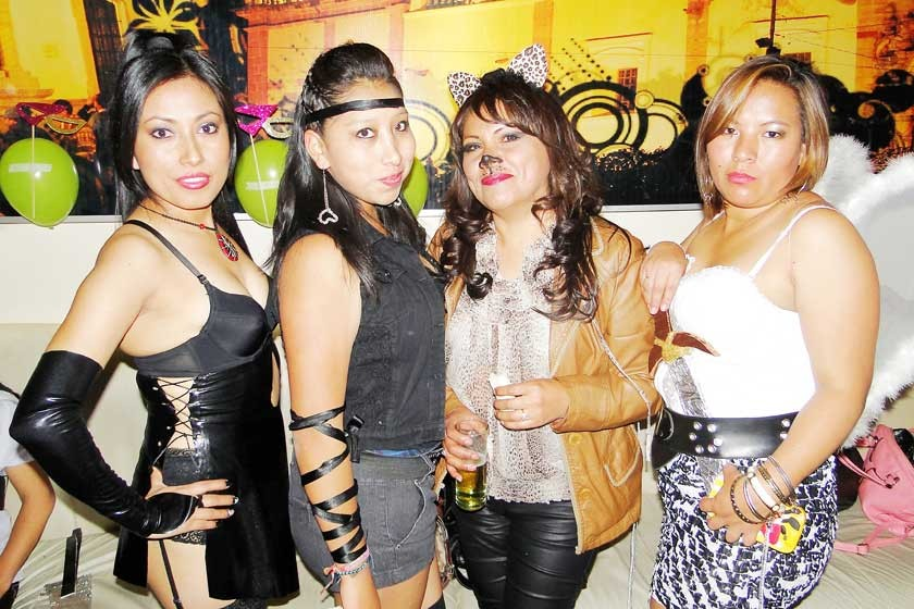 Hilda Díaz, Pamela Orozco, Zulema Bernal y Carla Colque.