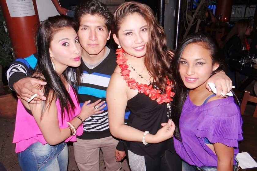 Ximena Prieto, Mauricio Choque, Gaby Chávez y Ali Soto.